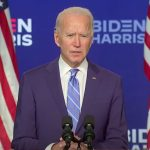Joe Biden tijdens zijn speech van 5 november 2020